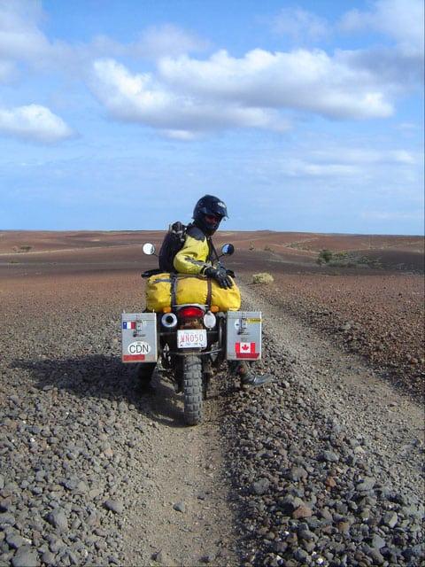 Riding in Lake Turkana in Kenya
