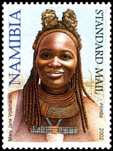 stamp himba headdress - mary jane volkmann 2002 web cultural headdresses