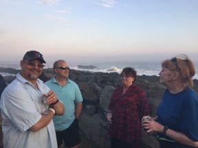 PH Jon, Tom, Karen and me - at Tsitsikama beach brai March 2017 small